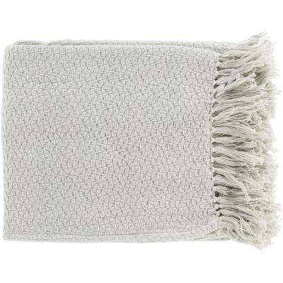 Sandford Sea Foam Cotton Throw