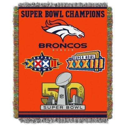 Broncos Multi-Color Tapestry Commemorative Series
