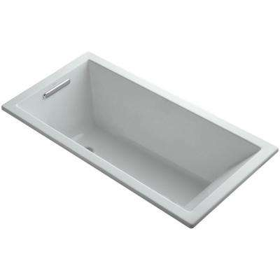 Underscore 5 ft. Reversible Drain Soaking Tub in Ice Grey