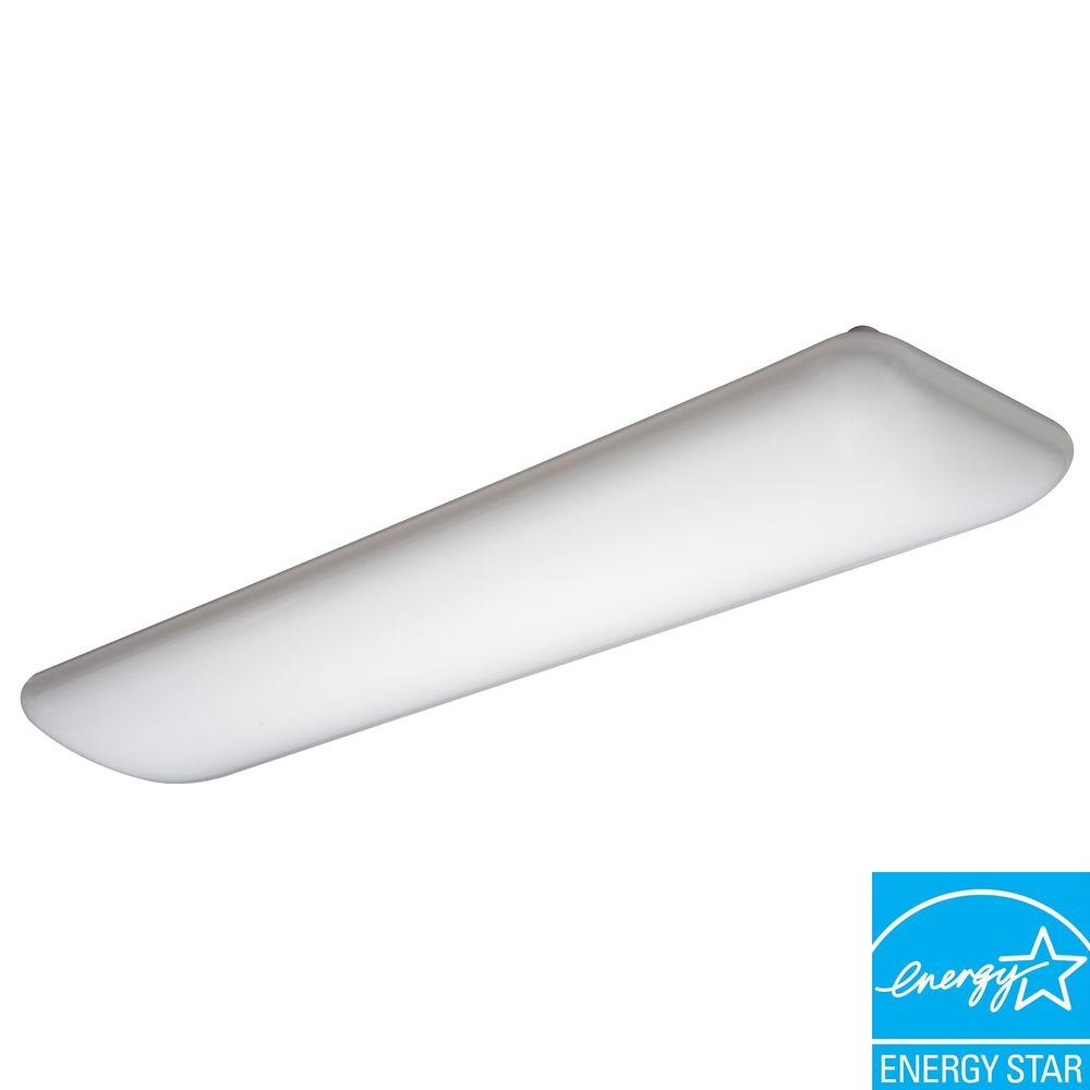 Lithonia Lighting Litepuff 2-Light White Fluorescent Ceiling Light