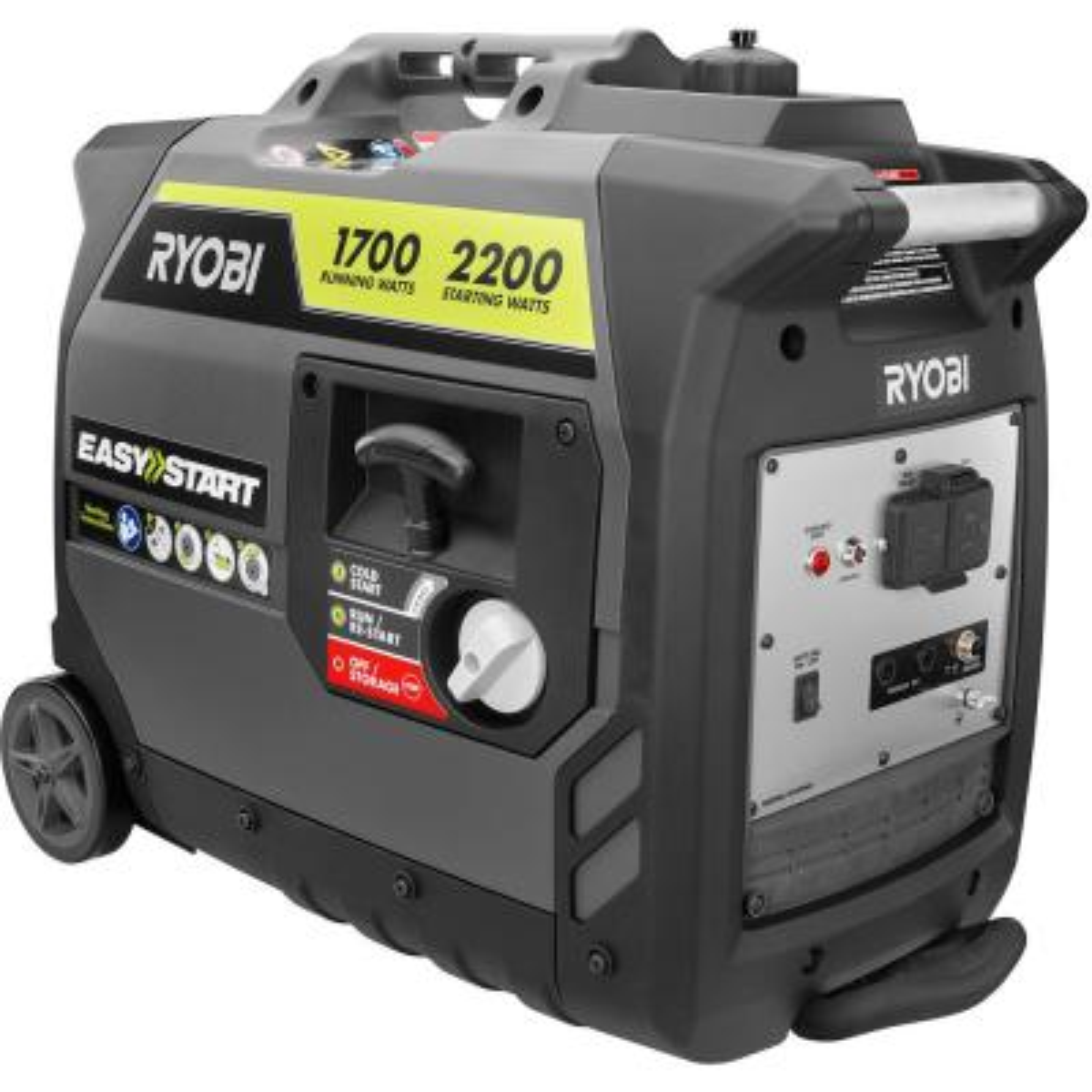 2,200 Starting Watt Gray Gasoline Powered Digital Inverter Generator