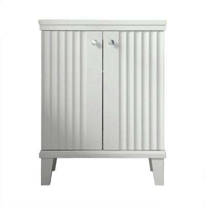 Parker 26.56 in. W x 14.19 in. D x 34.50 in. H Double Door Small Side Unit in White
