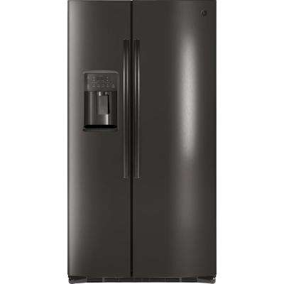 25.3 cu. ft. Side by Side Refrigerator in Black Stainless Steel, Fingerprint Resistant and ENERGY STAR