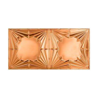 Art Deco - 2 ft. x 4 ft. Vinyl Glue-Up Ceiling Tile in Polished Copper