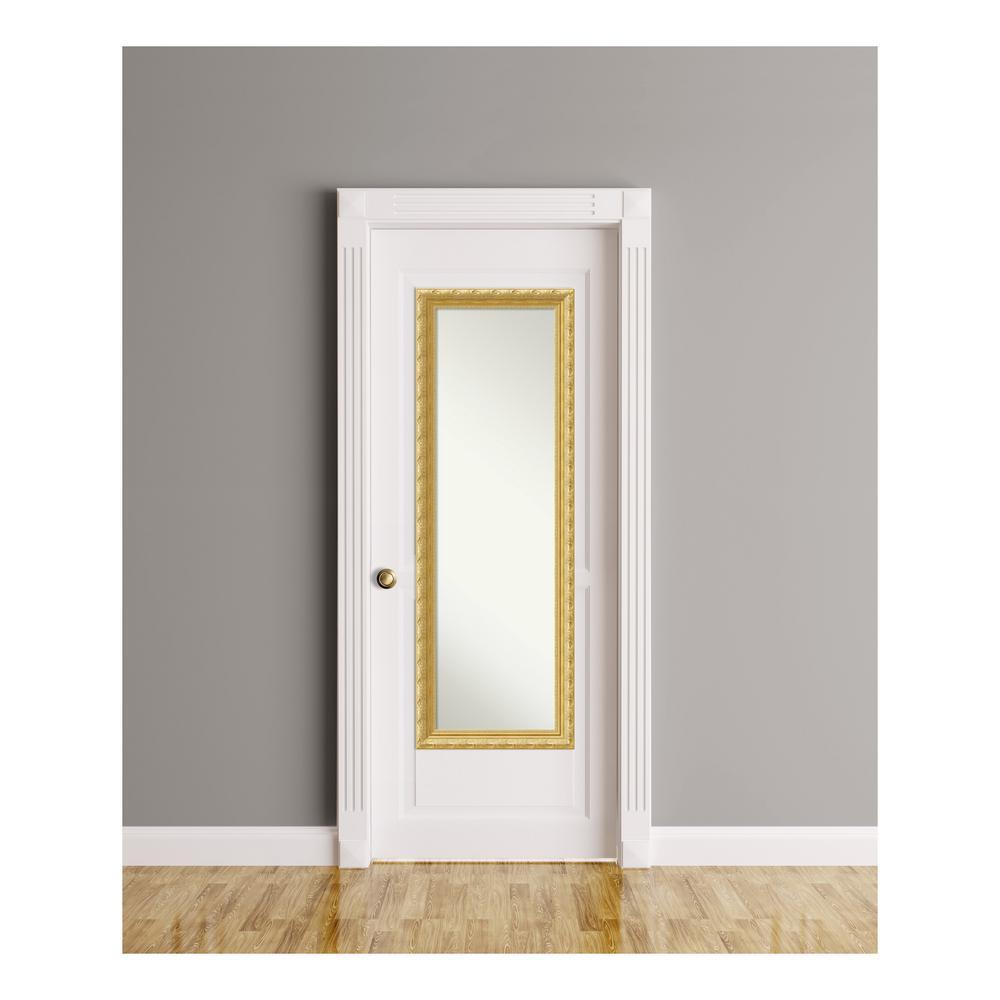 Versailles Gold Wood 18 in. W x 52 in. H On The Door Mirror