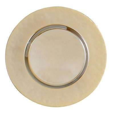 13 in. Luster Gold Glass Charger (Set of 4)
