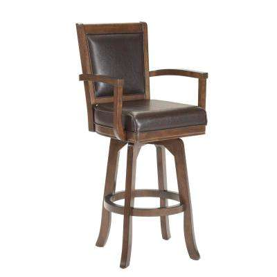 Ambassador 26 in. Rich Cherry Cushioned Bar Stool