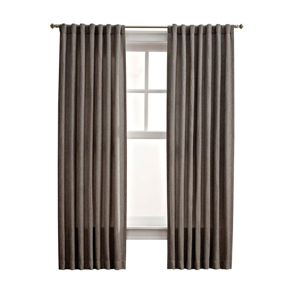 Martha Stewart Living Zinc Thermal Tweed Back Tab Curtain