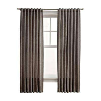 Thermal Tweed Room Darkening Window Panel in Zinc - 50 in. W x 108 in. L