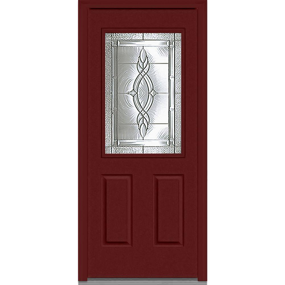 Brentwood Right-Hand Decorative 1/2 Lite  sc 1 st  The Home Depot & MMI Door 36 in. x 80 in. Brentwood Left-Hand Decorative 3/4 Lite 1 ...