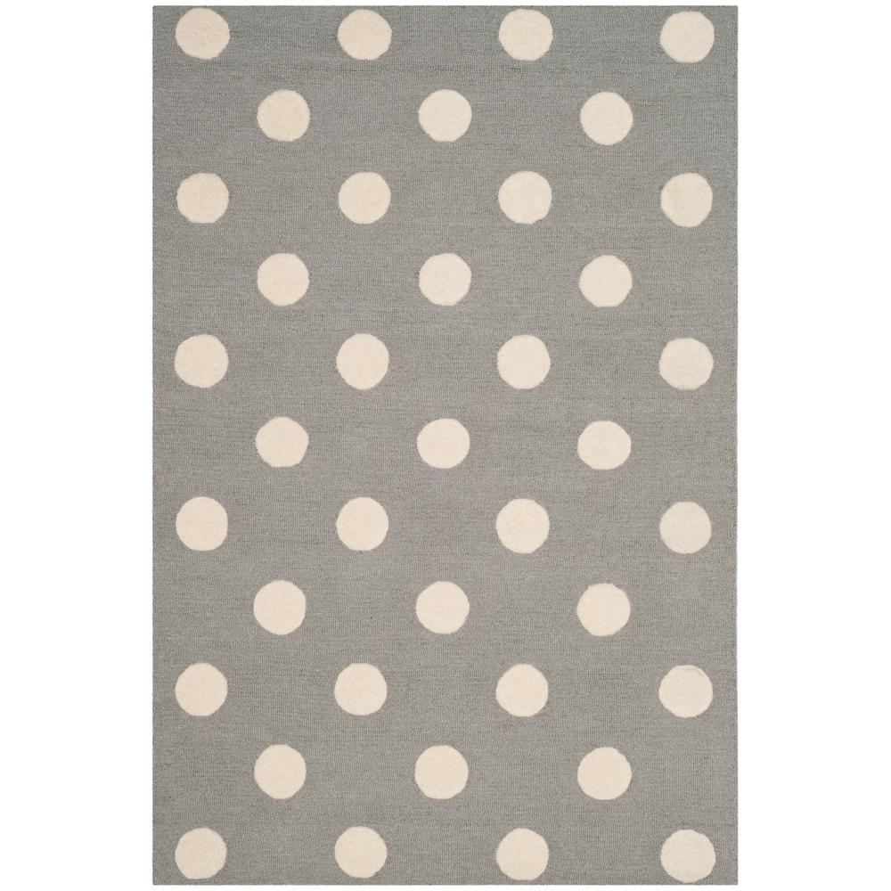 Kids Gray/Ivory 3 ft. x 5 ft. Area Rug