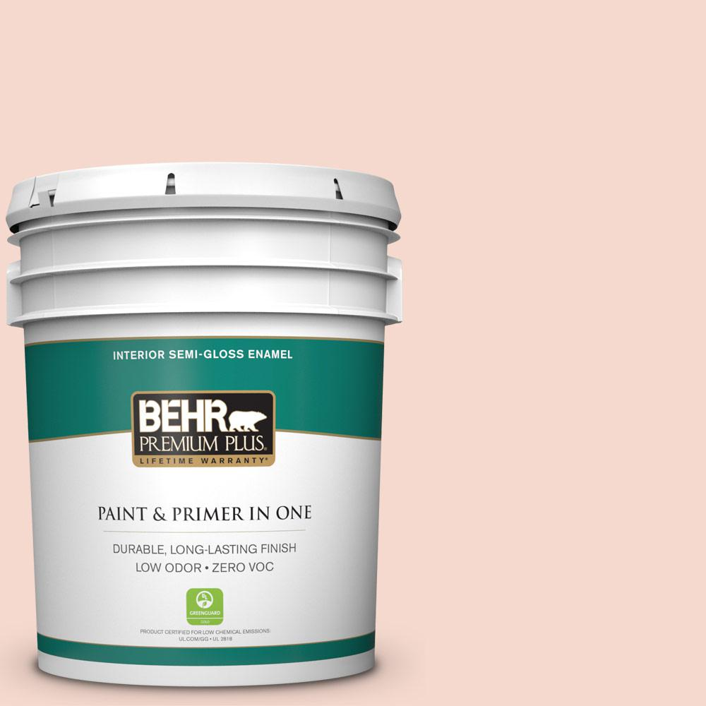 5-gal. #M190-1 Pink Sea Salt Semi-Gloss Enamel Interior Paint