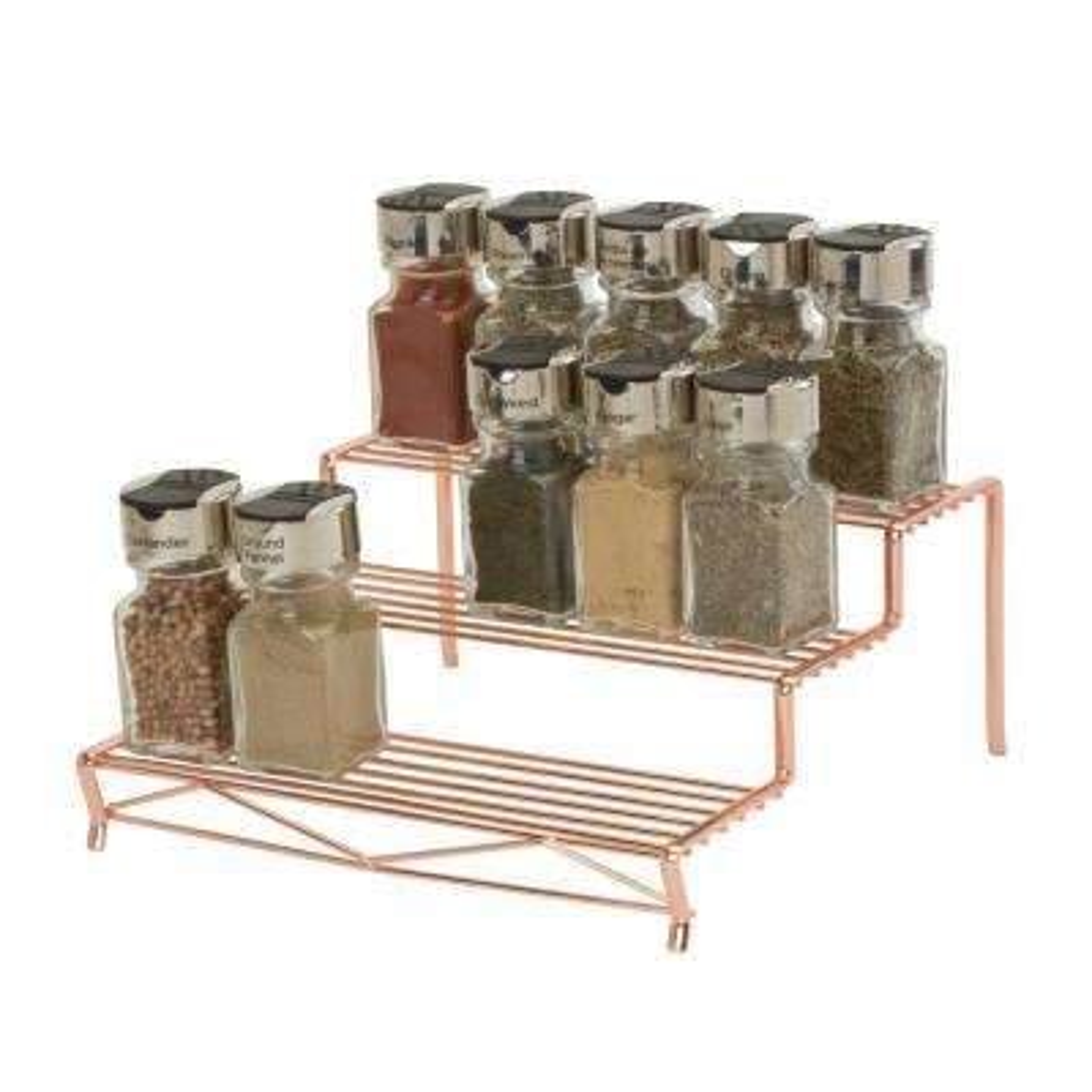 Geode 3 Tier Spice Rack in Copper