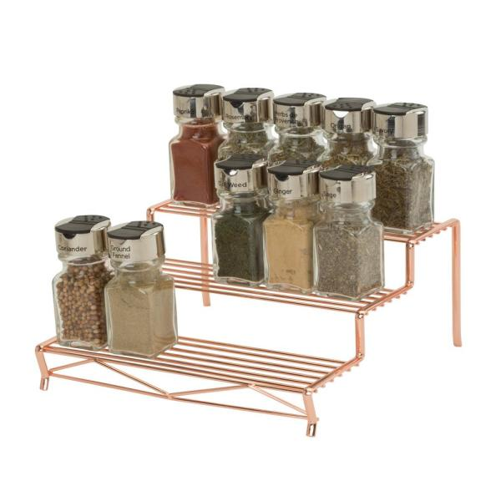 Kitchen Details Geode 3 Tier Spice Rack in Copper