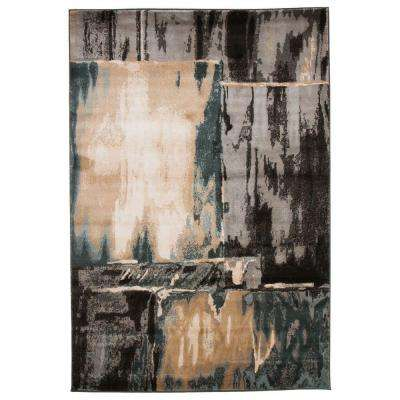 Opus Artfully Abstract Gray 5 ft. 3 in. x 7 ft. 7 in. Area Rug