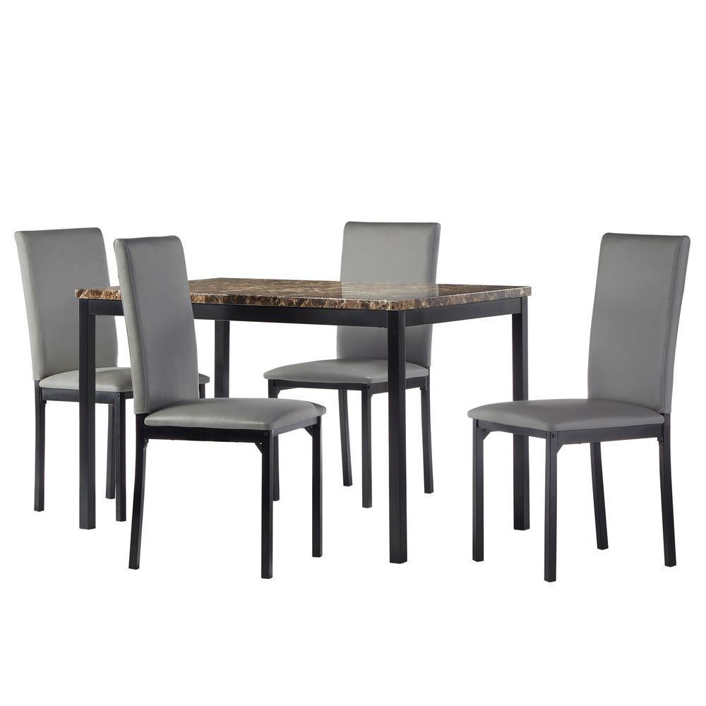 Bedford 5-Piece Grey Dining Set