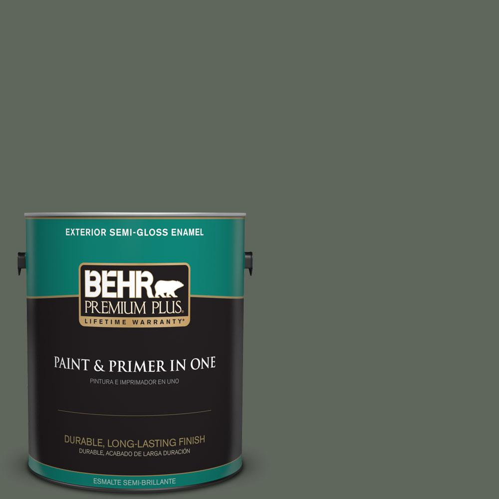 BEHR Premium Plus 1-gal. #710F-6 Painted Turtle Semi-Gloss Enamel Exterior Paint