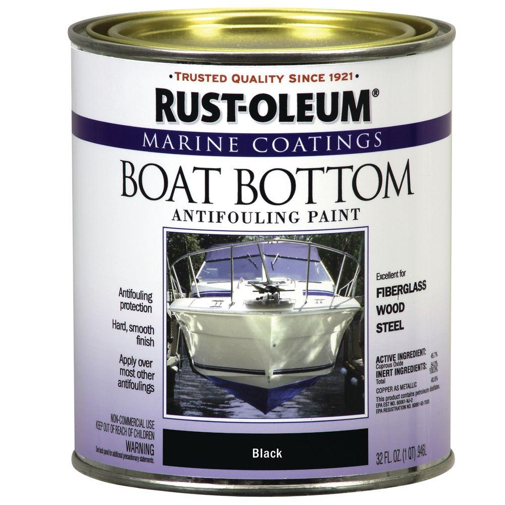 Rust-Oleum Marine Coatings 1 qt. Flat Black Bottom Antifouling Paint-DISCONTINUED