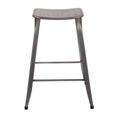 "Durham 26"" Counter Stool in Antique Grey - 2 Pack"
