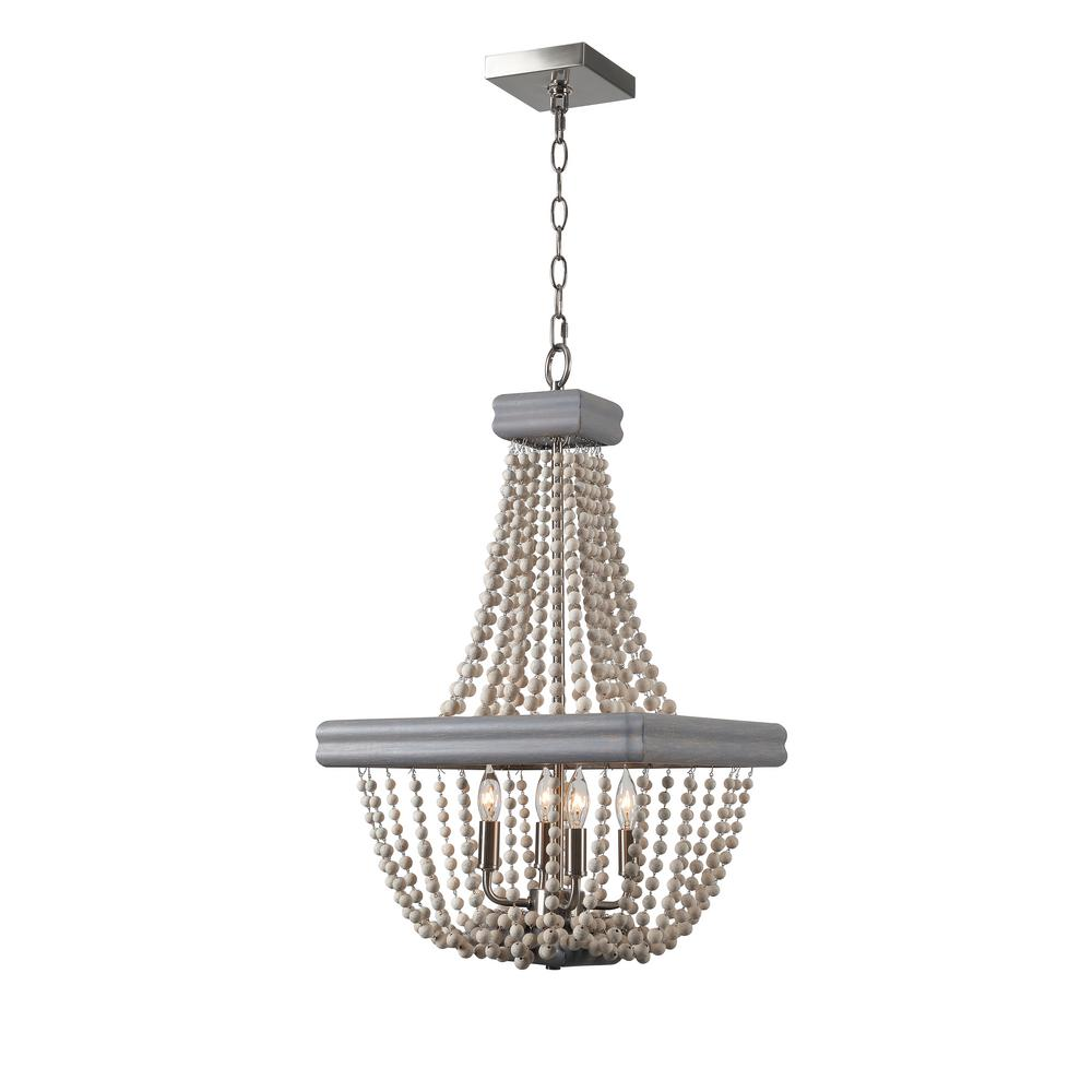 Kenroy home drape 4 light grey chandelier 93914gry the home depot kenroy home drape 4 light grey chandelier aloadofball Image collections