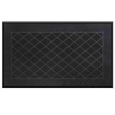 Stud Pattern Black 18 in. x 30 in. Pin Door Mat