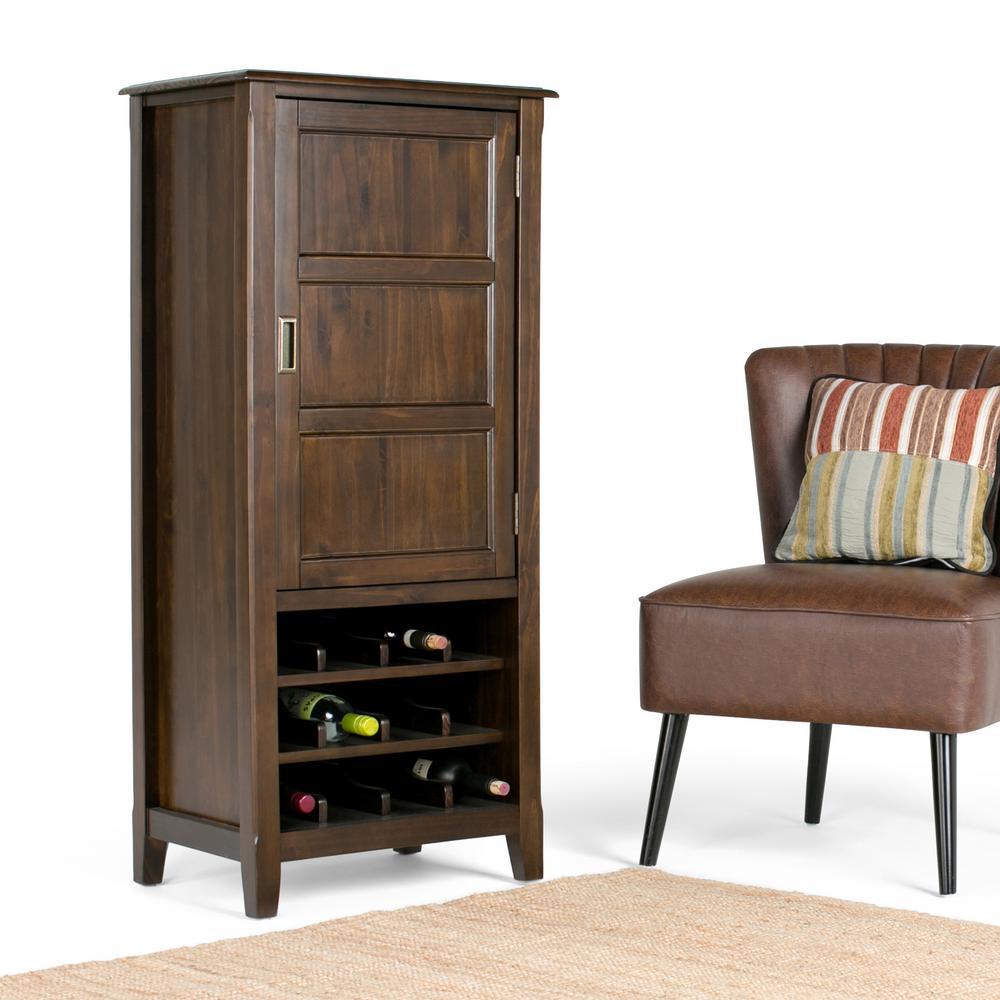 Burlington 12-Bottle Espresso Brown Bar Cabinet