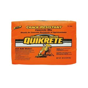 Quikrete 80 lb  Crack-Resistant Concrete Mix-100680 - The Home Depot