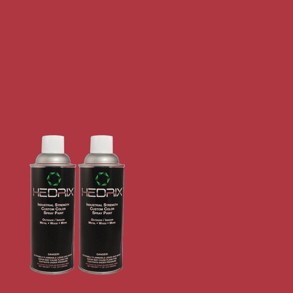 Hedrix 11 oz. Match of S-G-120 Strawberry Daiquiri Flat Custom Spray Paint (2-Pack)