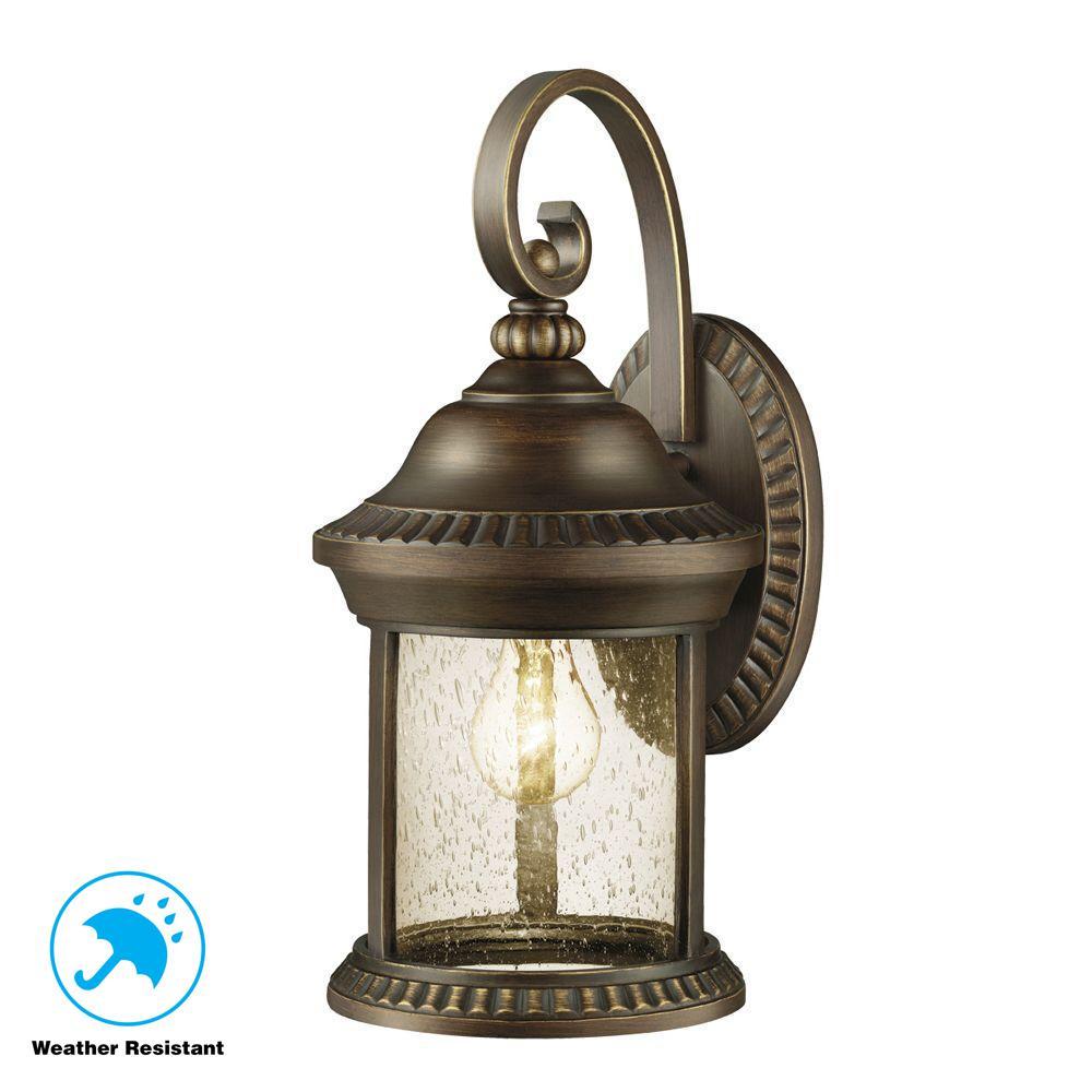 Cambridge Collection 1-Light Essex Bronze Outdoor Wall Mount Lantern