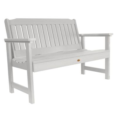 Lehigh 48 in. 2-Person White Recycled Plastic Outdoor Garden Bench