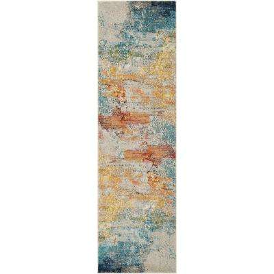 Celestial Sealife 2 Ft X 8 Runner Rug