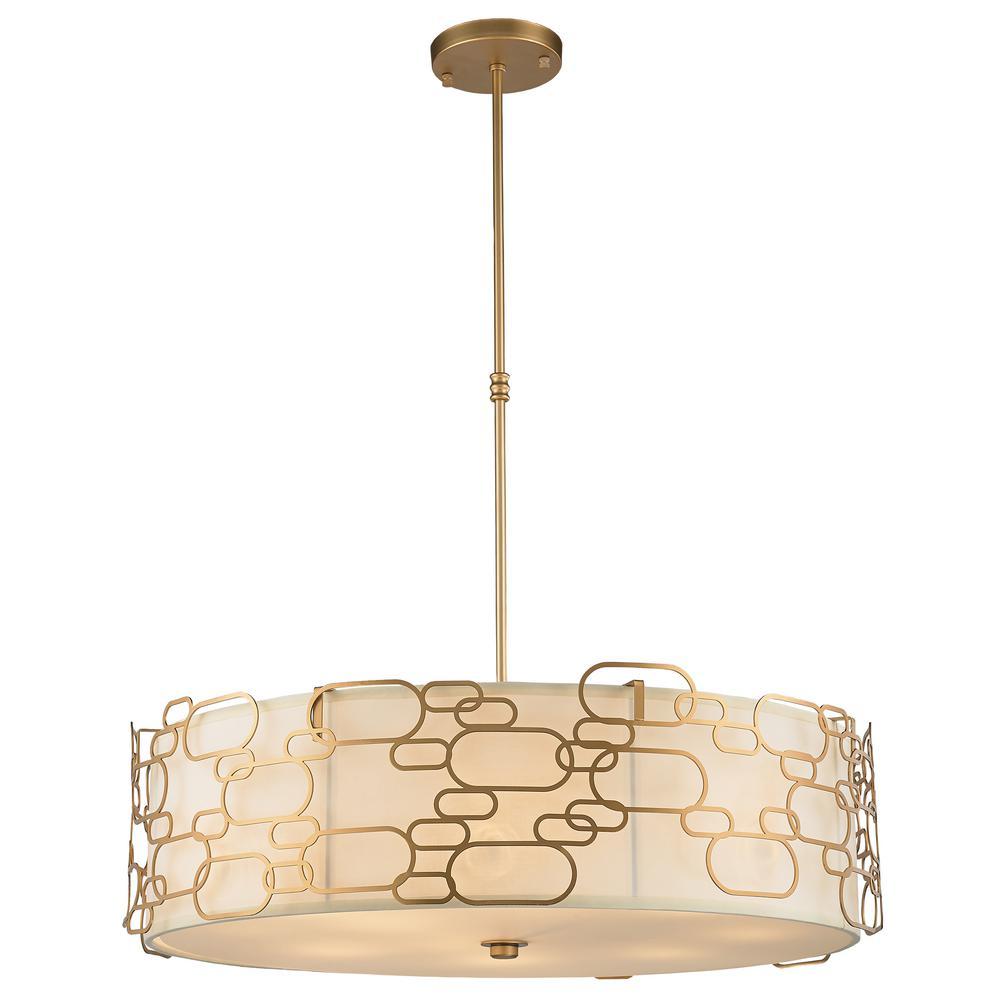 Montauk 12-Light Matte Gold Pendant