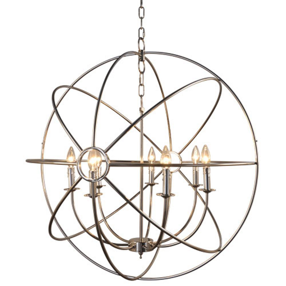 Y Decor Infinity 7-Light Nickel Plated Mini Chandelier