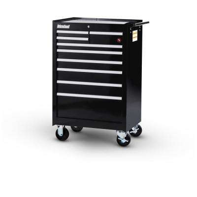 Workshop Series 27 in. 9-Drawer Roller Cabinet Tool Chest in Black
