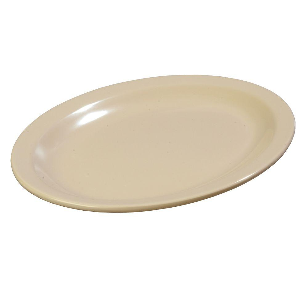 Carlisle 9 in. x 12 in. Melamine Platter in Tan (Case of 12)