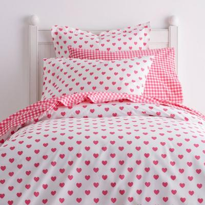 Sweetheart Cotton Percale Duvet Cover