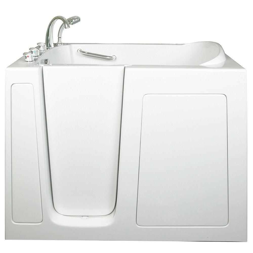 High Quality Ella Low Threshold 4.33 Ft. X 30 In. Walk In Bathtub In White