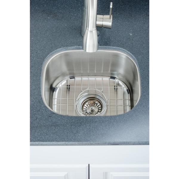 The Craftsmen Series Undermount 15 in. Stainless Steel Single Bowl Kitchen Sink Package