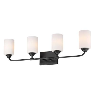 Ormond 4.375 in. 4-Light Matte Black Vanity Light
