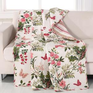 Butterflies Multi Quilted Cotton Throw