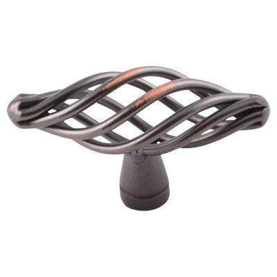 Berkshire 1-1/4 in. Oil Rubbed Bronze Birdcage Cabinet Knob (25-Pack)