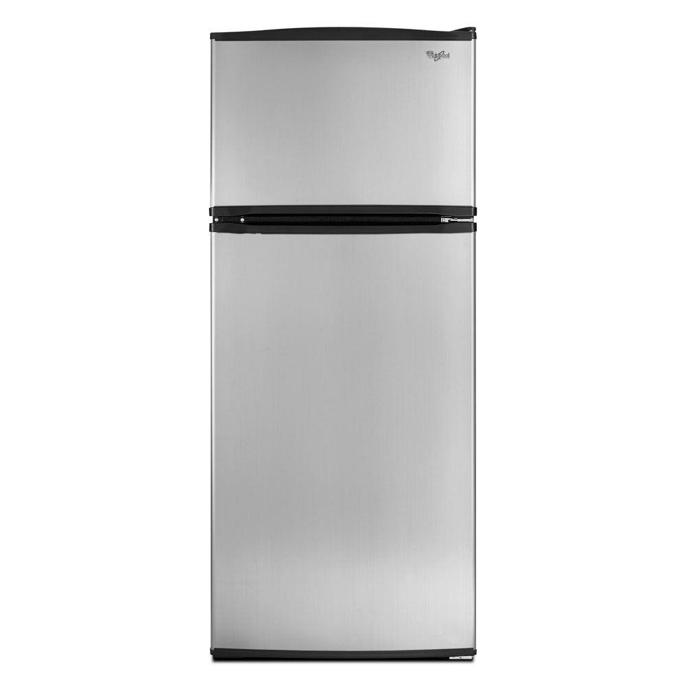Whirlpool 17.5 cu. ft. Top Freezer Refrigerator in Stainless Steel-DISCONTINUED