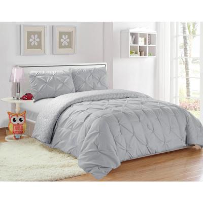 Ferrah 2 Piece Twin Duvet Set In Grey