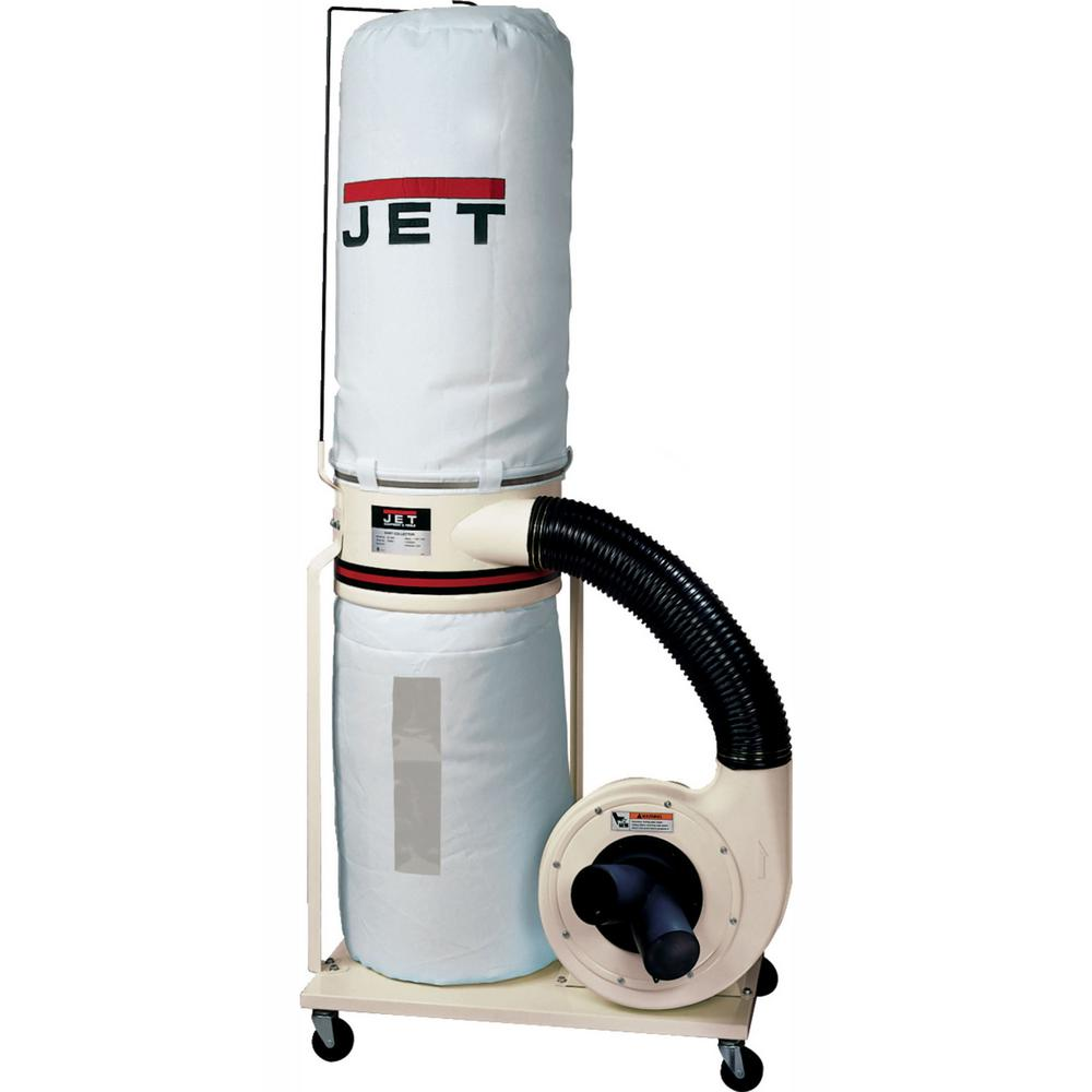 Jet 1 5 HP 1100 CFM 4 or 6 in  Dust Collector with Vortex Cone and 5-Micron  Bag Filter Kit, 115/230-Volt, DC-1100VX-5M