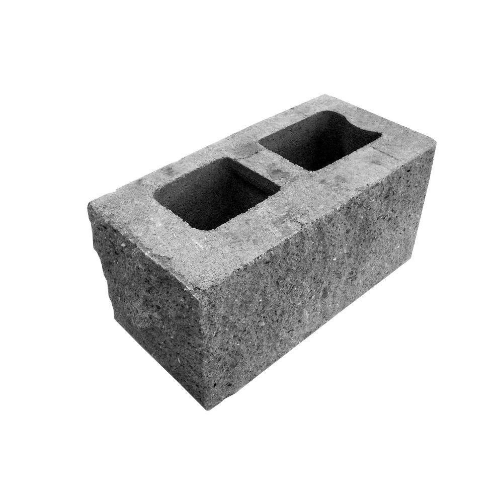 8 in x 8 in x 16 in split face corner block l470 the for Split face block house