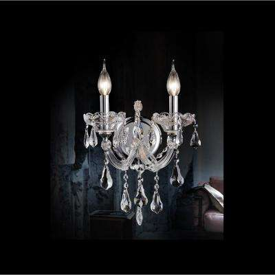 Maria Theresa 2-Light Chrome Sconce
