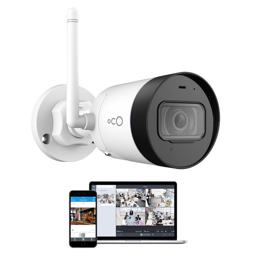 Oco Pro Bullet Outdoor/Indoor 1080p Cloud and Security Wireless Standard Surveillance Camera with Remote Viewing, White was $163.93 now $69.0 (58.0% off)