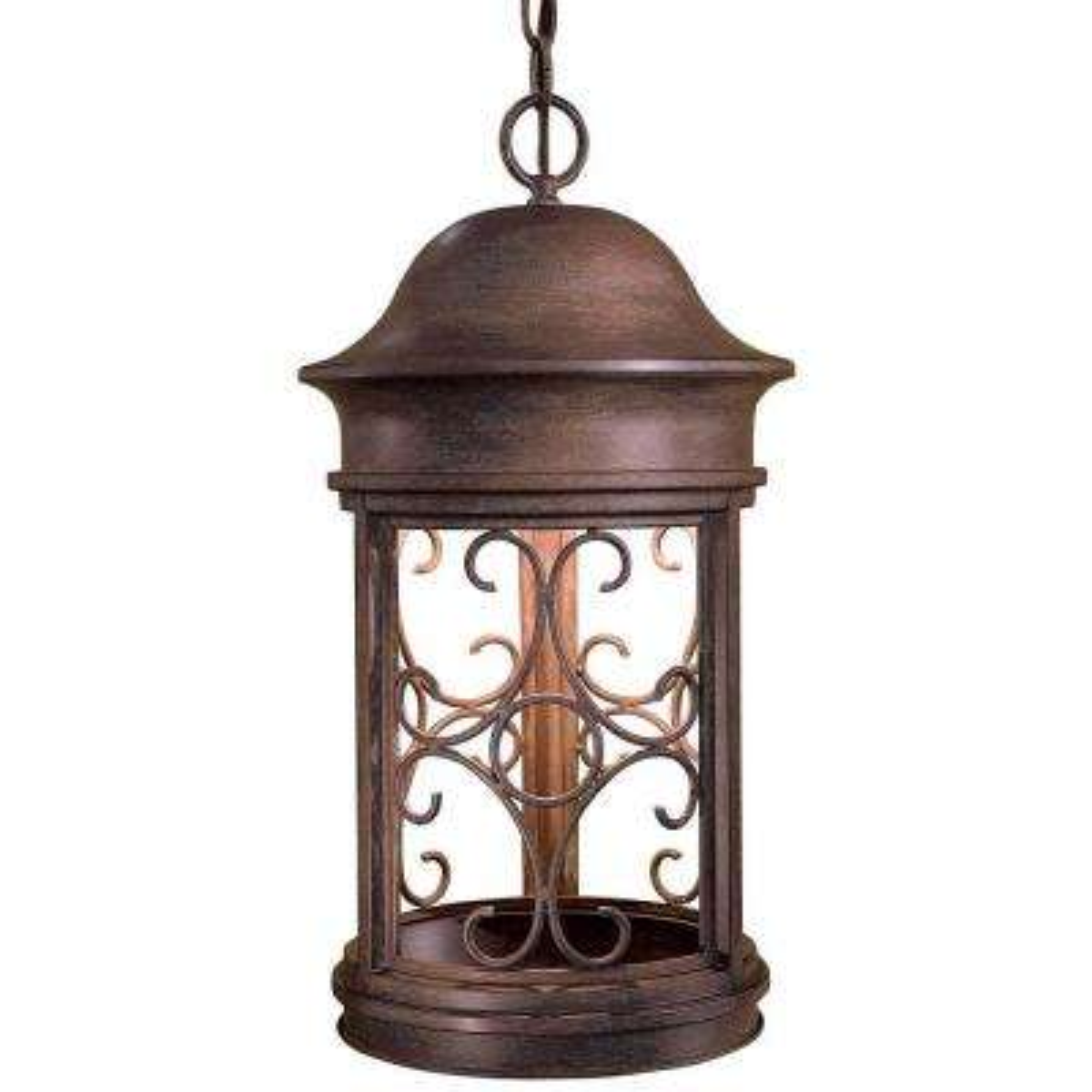 Sage Ridge Vintage Rust 1-Light Indoor/Outdoor Hanging Lantern