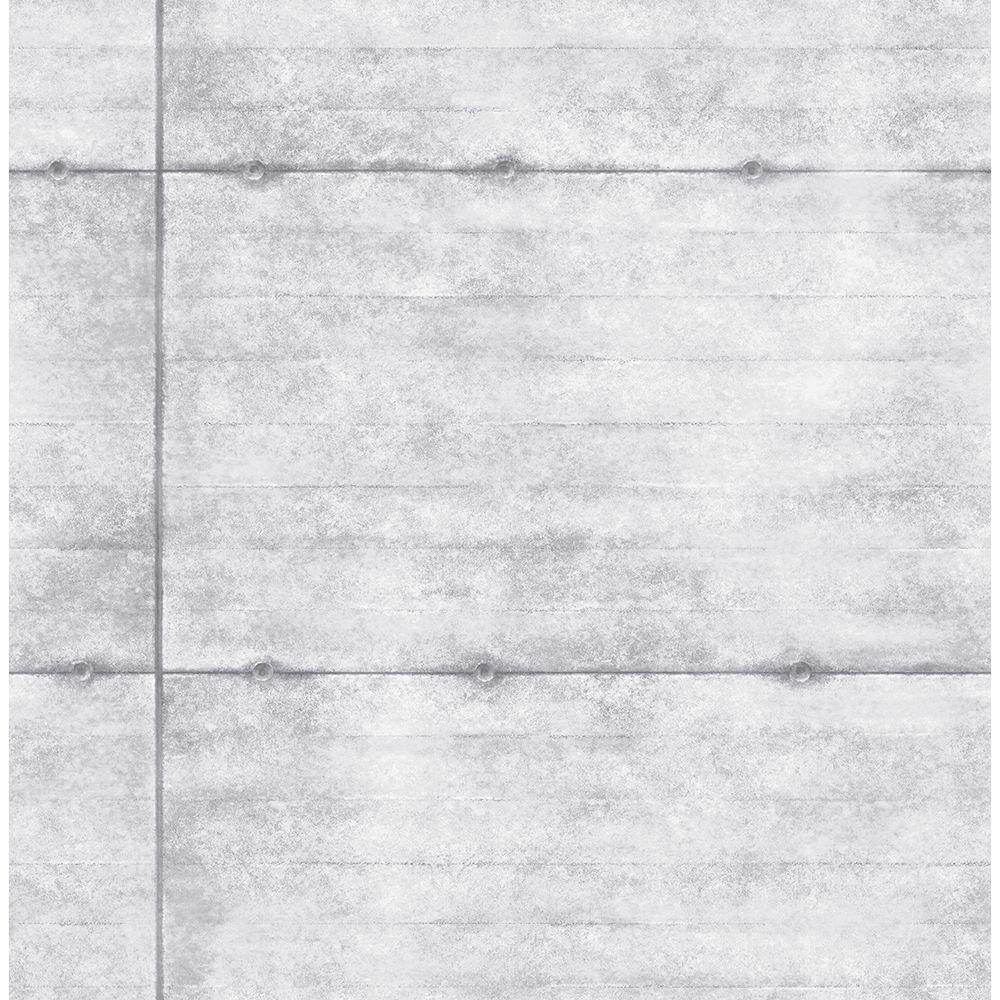 Grey Smooth Concrete Geometric Wallpaper