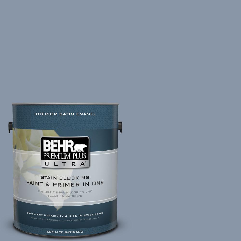 BEHR Premium Plus Ultra 1-gal. #icc-103 Approaching Dusk Satin Enamel Interior Paint